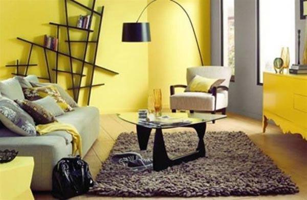 Фотография: Гостиная в стиле Эклектика, Декор интерьера, Дизайн интерьера, Цвет в интерьере, Желтый – фото на INMYROOM