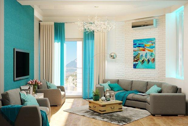 Фотография: Гостиная в стиле Скандинавский, Декор интерьера, Декор, текстиль в интерьере, декор окна, выбор штор для интерьера – фото на INMYROOM