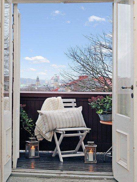 Фотография: Балкон, Терраса в стиле Скандинавский, Восточный, Декор интерьера – фото на INMYROOM