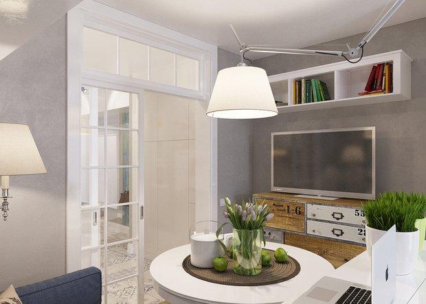 Фотография: Кухня и столовая в стиле Лофт, Скандинавский, Современный, Малогабаритная квартира, Квартира, Дома и квартиры, Проект недели – фото на INMYROOM