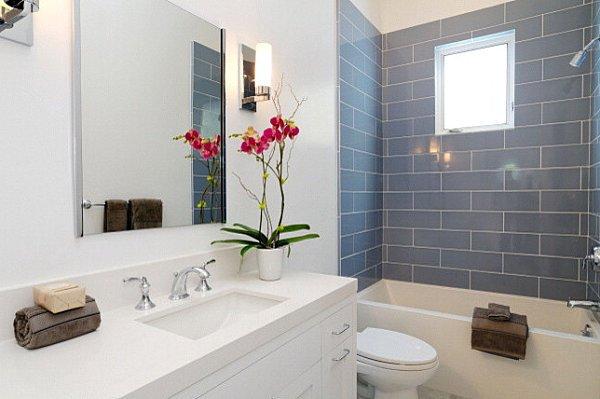 Фотография: Ванная в стиле Современный, Декор интерьера, Флористика, Декор, Советы – фото на INMYROOM