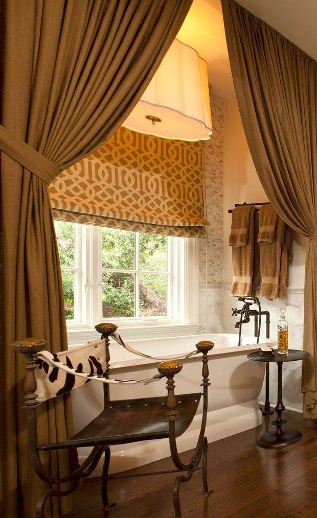 Фотография: Ванная в стиле Прованс и Кантри, Декор интерьера, Текстиль, Советы, Шторы, Балдахин – фото на INMYROOM