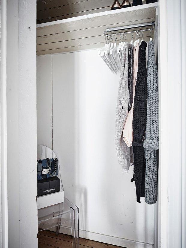 Фотография: Гардеробная в стиле Современный, Скандинавский, Декор интерьера, Квартира, Студия, до 40 метров – фото на INMYROOM