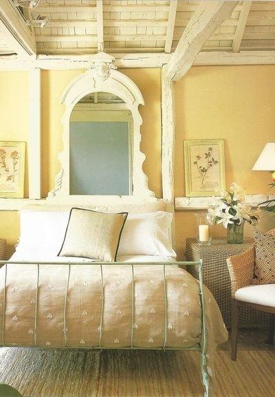 Фотография: Спальня в стиле Прованс и Кантри, Советы, Зеленый, Желтый, Синий, Серый, Голубой – фото на INMYROOM