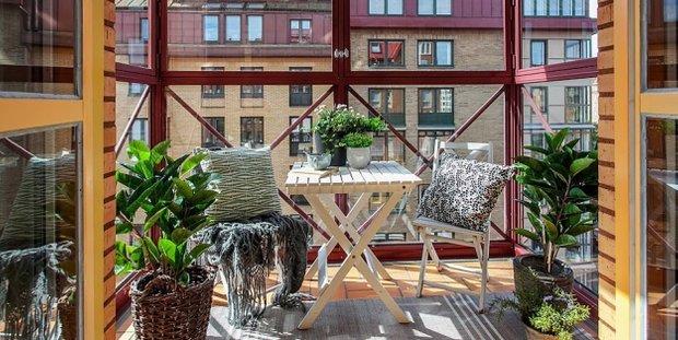Фотография: Балкон, Терраса в стиле Скандинавский, Малогабаритная квартира, Квартира, Дома и квартиры, Ретро – фото на INMYROOM