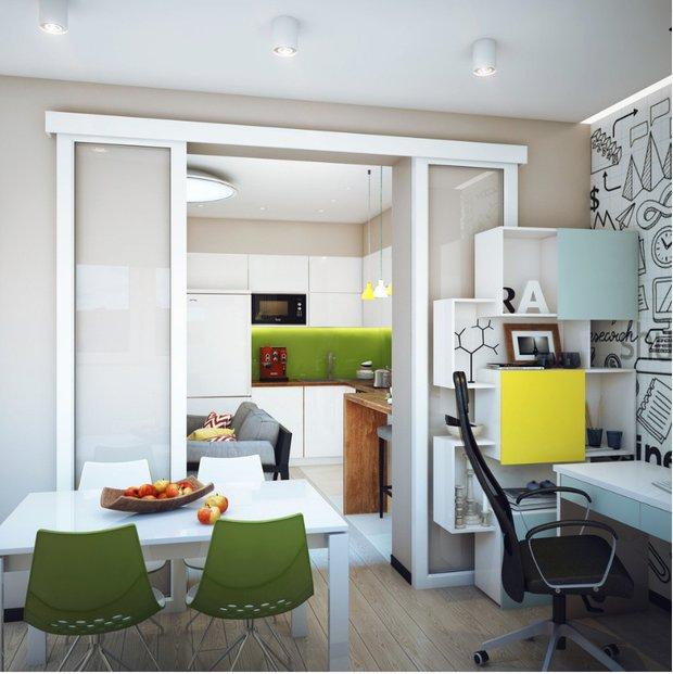 Фотография: Кухня и столовая в стиле Современный, Балкон, Квартира, Советы – фото на INMYROOM