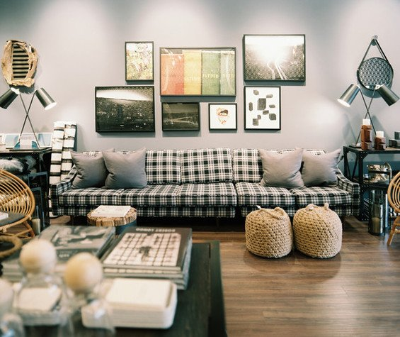 Фотография: Гостиная в стиле Лофт, Современный, Декор интерьера, Декор дома, Прованс, Пол – фото на INMYROOM