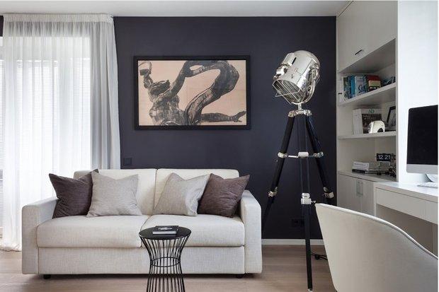 Фотография: Гостиная в стиле Современный, Декор интерьера, DIY, Малогабаритная квартира, Квартира, Белый, Бежевый, Серый – фото на INMYROOM