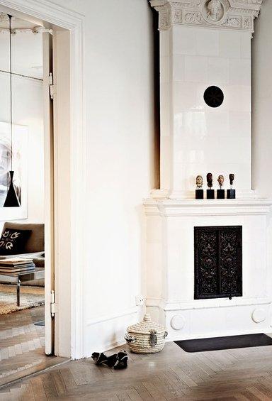 Фотография: Гостиная в стиле Прованс и Кантри, Декор интерьера, Квартира, Дома и квартиры, Камин – фото на INMYROOM