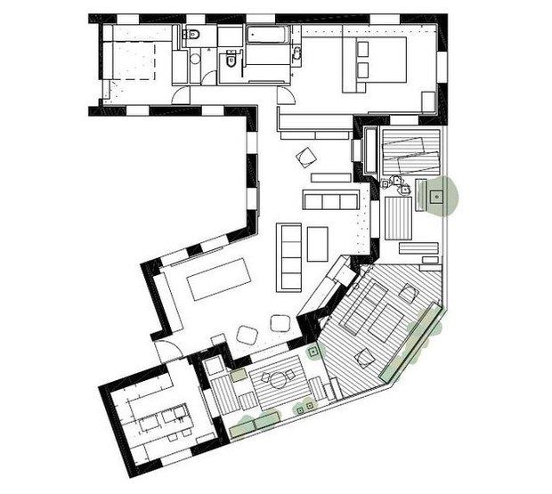 Фотография: Планировки в стиле , Современный, Эклектика, Квартира, Дома и квартиры, Минимализм – фото на INMYROOM