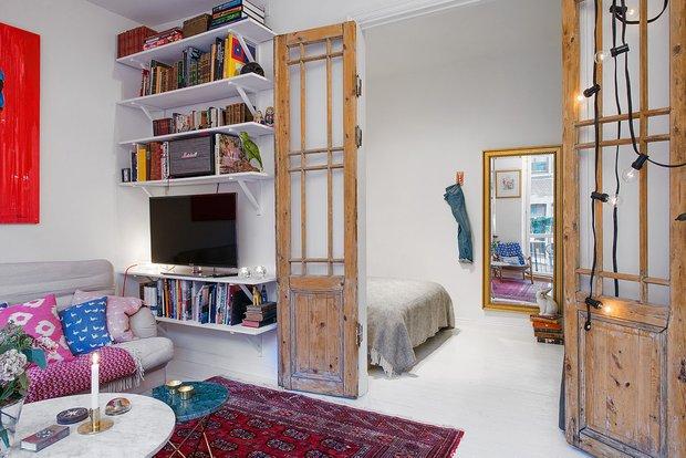 Фотография: Гостиная в стиле Скандинавский, Эклектика, Малогабаритная квартира, Квартира – фото на InMyRoom.ru