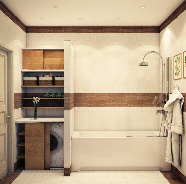 Фотография: Ванная в стиле Эко, Советы, маленькая ванная – фото на INMYROOM