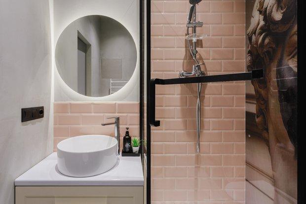 Фотография: Ванная в стиле Эклектика, Малогабаритная квартира, небольшая спальня – фото на INMYROOM