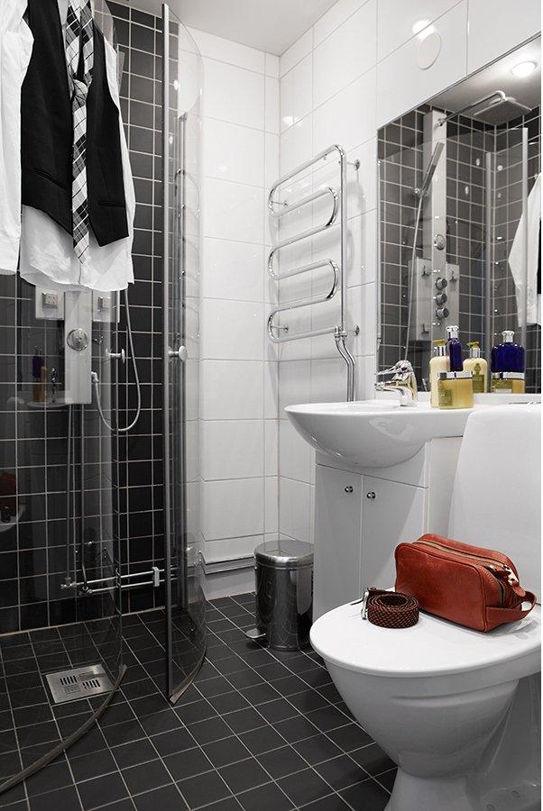 Фотография: Ванная в стиле Современный, Скандинавский, Декор интерьера, Малогабаритная квартира, Квартира, Дома и квартиры – фото на InMyRoom.ru