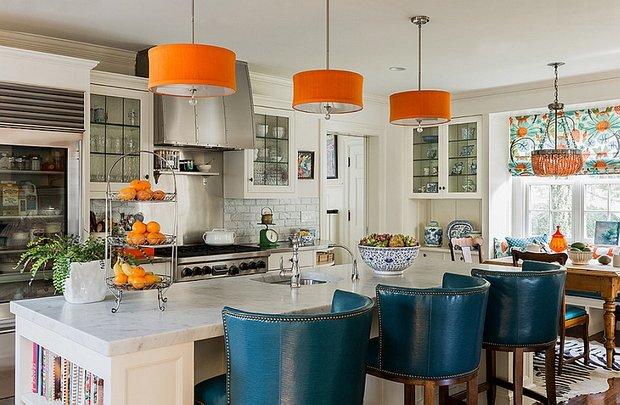 Фотография: Кухня и столовая в стиле Эклектика, Декор интерьера, Декор, Белый, Зеленый, Бежевый, Синий, Голубой, Оранжевый, Бирюзовый – фото на INMYROOM