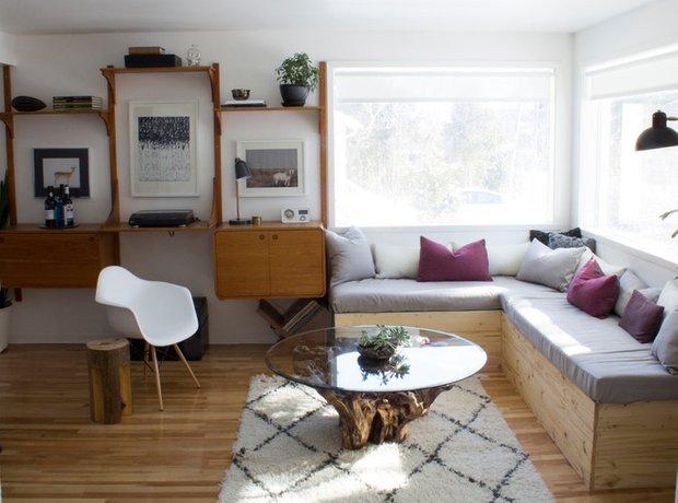 Фотография: Гостиная в стиле Скандинавский, DIY, Дом, Дома и квартиры, Камин – фото на INMYROOM