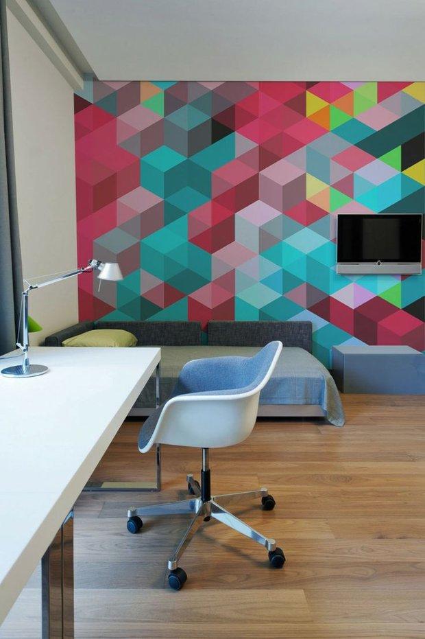 Фотография: Офис в стиле Современный, Индустрия, Новости, Обои, Геометрия в интерьере – фото на INMYROOM