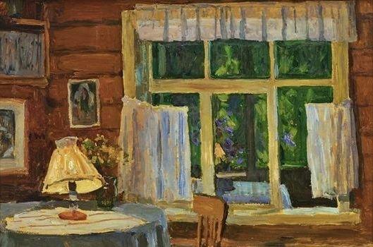 Грицай Алексей Михайлович (Россия, 1914-1997) «Вечер в доме художника Андрея Тутунова» 1962