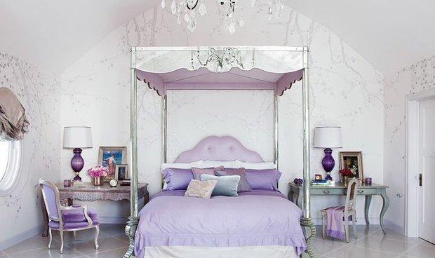 Фотография: Спальня в стиле Классический, Современный, Эклектика, Дом, Дома и квартиры, Интерьеры звезд – фото на INMYROOM