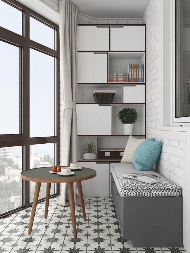 Фотография: Балкон в стиле Скандинавский, Гид, Мегафон, Мегафон ТВ, чилаут, чилаут-зона – фото на INMYROOM
