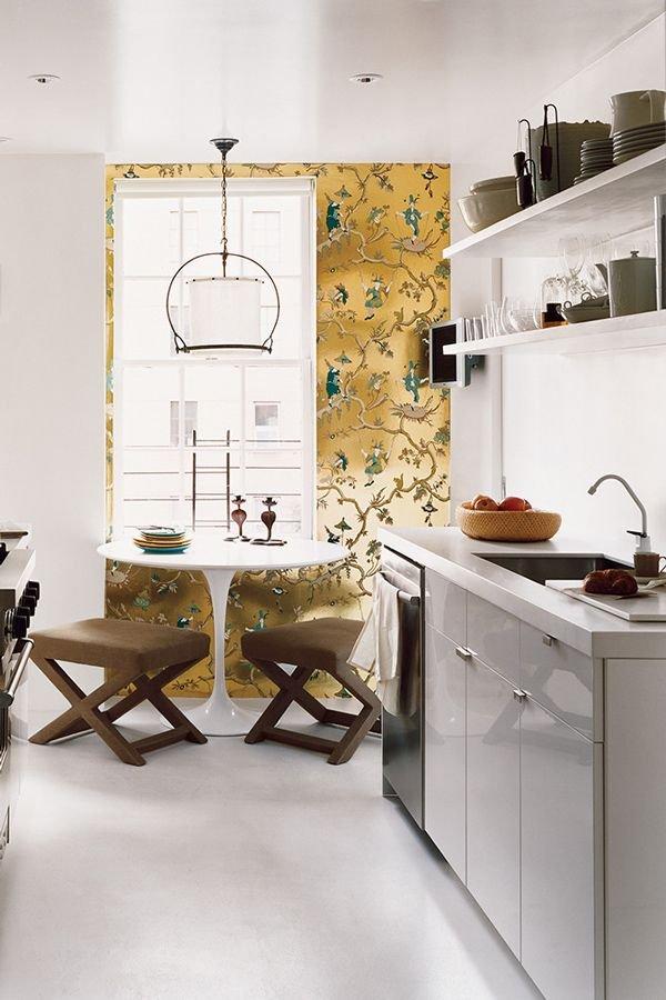 Фотография: Кухня и столовая в стиле Современный, Эклектика, Малогабаритная квартира, Квартира, Советы, Бежевый, Бирюзовый, Зонирование, как зонировать комнату, как зонировать однушку, как зонировать однокомнатную квартиру – фото на INMYROOM