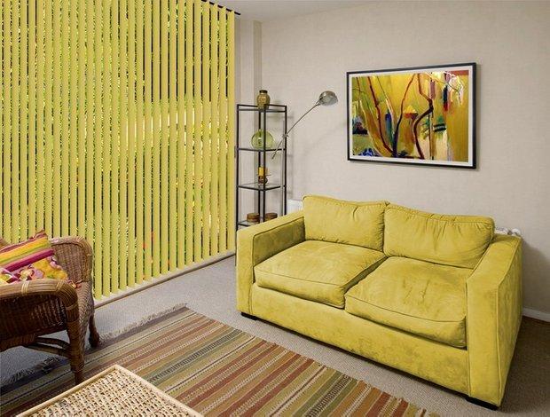Фотография: Гостиная в стиле Современный, Квартира, Декор, Советы, как выбрать жалюзи, жалюзи на окна – фото на INMYROOM