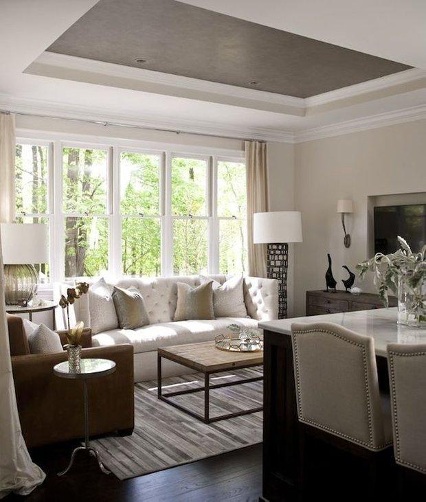 Фотография: Гостиная в стиле Прованс и Кантри, Декор интерьера, Дизайн интерьера, Цвет в интерьере, Потолок – фото на INMYROOM