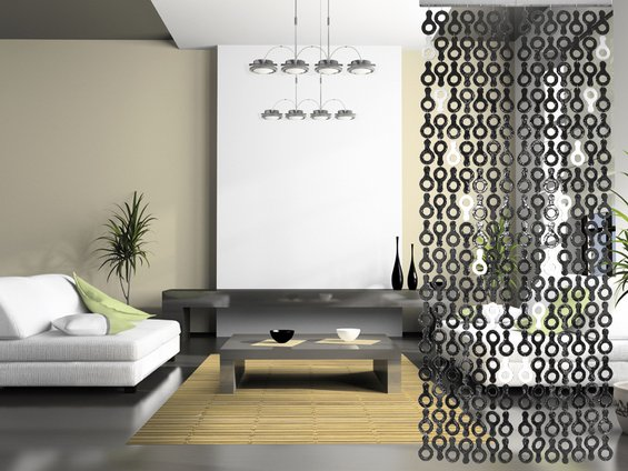 Фотография: Гостиная в стиле Современный, Декор интерьера, Декор дома, Ширма, Перегородки – фото на INMYROOM