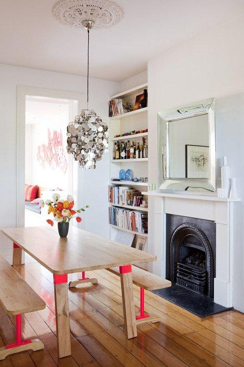 Фотография: Кухня и столовая в стиле Классический, Скандинавский, Современный, Декор интерьера, Дизайн интерьера, Цвет в интерьере, Желтый, Розовый, Оранжевый, Неон – фото на INMYROOM