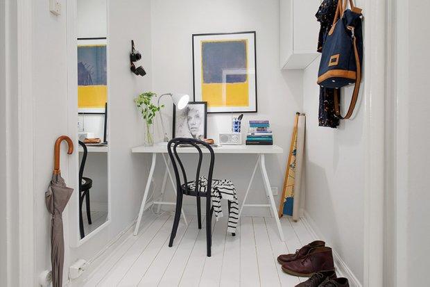 Фотография: Офис в стиле Скандинавский, Малогабаритная квартира, Квартира, Швеция, Дома и квартиры, Гетеборг – фото на INMYROOM