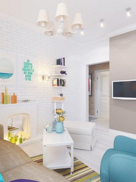 Фотография: Гостиная в стиле , Малогабаритная квартира, Квартира, Индустрия, События – фото на INMYROOM