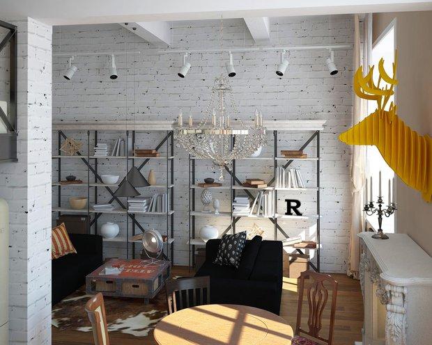Фотография: Гостиная в стиле Лофт, Квартира, Дома и квартиры, IKEA, Проект недели – фото на INMYROOM
