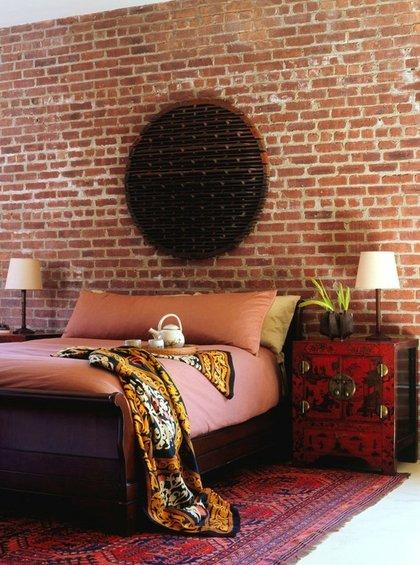 Фотография: Спальня в стиле Восточный, Эклектика, Декор интерьера, Декор дома, Цвет в интерьере, Обои – фото на INMYROOM