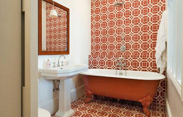 Фотография: Ванная в стиле Прованс и Кантри, Декор интерьера, Декор дома, Плитка, Ремонт на практике – фото на INMYROOM