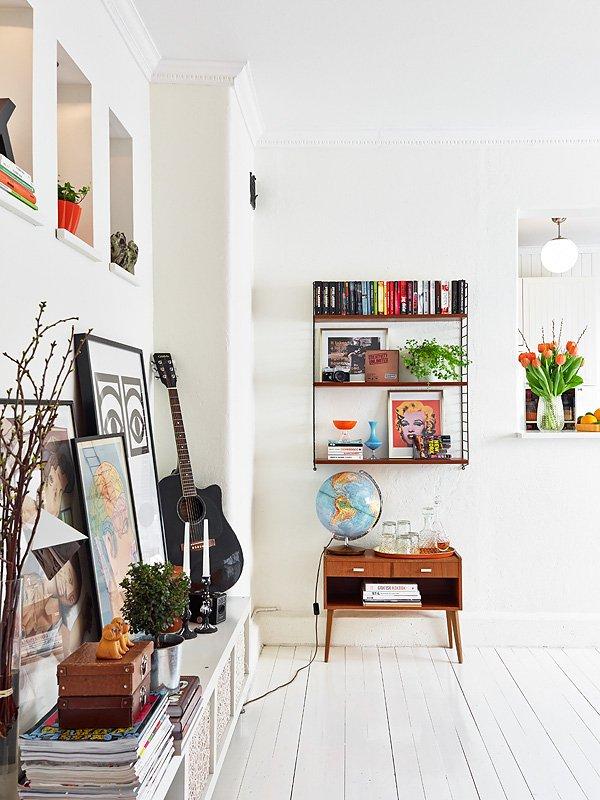 Фотография:  в стиле Скандинавский, Современный, Декор интерьера, Квартира, Цвет в интерьере, Дома и квартиры, Стены, Гетеборг – фото на INMYROOM