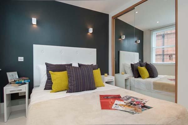 Фотография: Спальня в стиле Современный, Декор интерьера, Малогабаритная квартира, Квартира, Дома и квартиры, Лондон, Квартиры – фото на INMYROOM