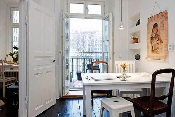 Фотография: Кабинет в стиле Скандинавский, Квартира, Швеция, Мебель и свет, Дома и квартиры, Гетеборг – фото на INMYROOM