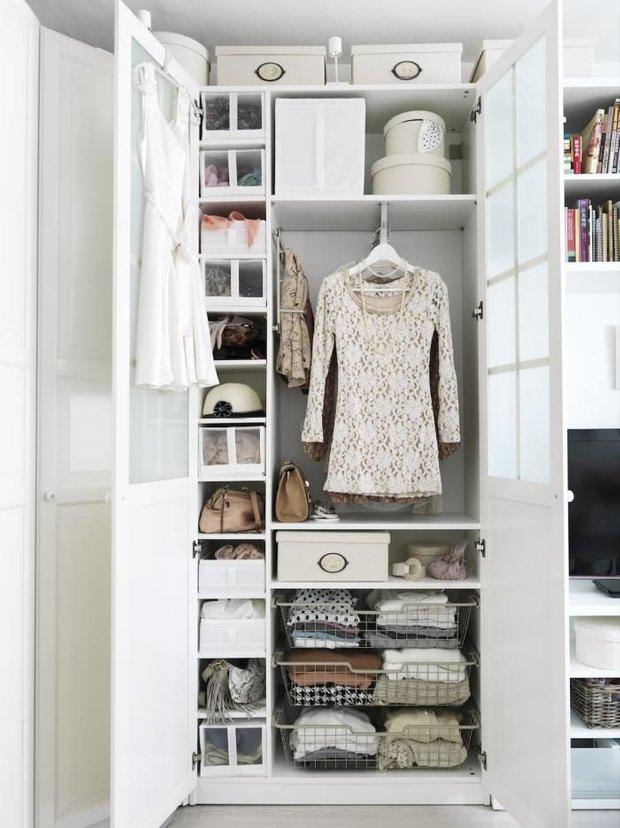 Фотография: Спальня в стиле Прованс и Кантри, Гардеробная, Интерьер комнат, Гардероб – фото на INMYROOM