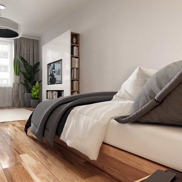 Фотография: Спальня в стиле Современный, Советы, Стеновые панели, Встроенные шкафы, Kronospan, как скрыть шкафы – фото на INMYROOM
