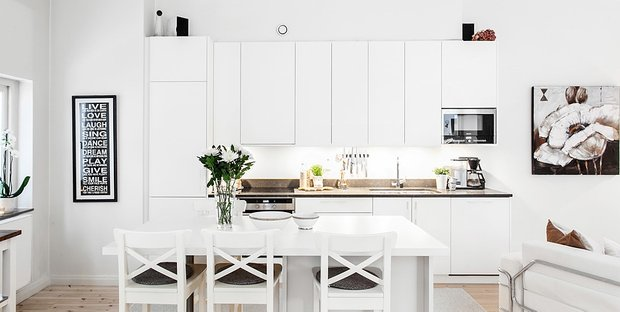 Фотография: Кухня и столовая в стиле Скандинавский, Современный, Декор интерьера, Дизайн интерьера, Цвет в интерьере, Советы, Белый – фото на INMYROOM