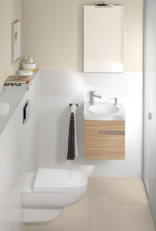 Фотография:  в стиле , Ванная, Советы, Villeroy & Boch, дизайн ванной комнаты, дизайн маленького санузла, Thomas Kannengiesser, SupraFix, Direct Flush, Soft Closing System, TitanCeram, Octagon, antibac, CeramicPlus – фото на INMYROOM