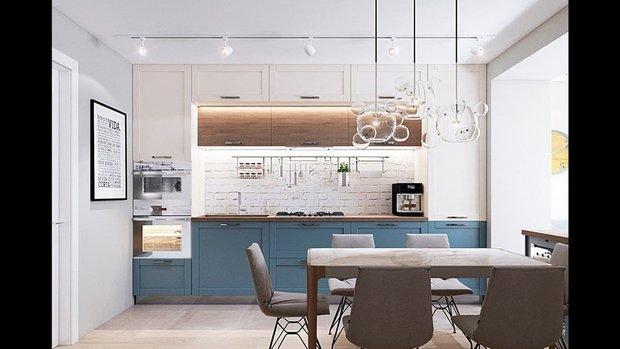 Пример хорошо продуманной кухни в проекте Андрея Бубнова