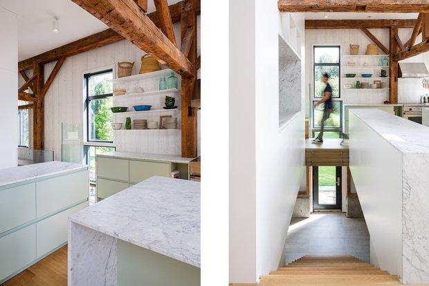 Фотография: Кухня и столовая в стиле Лофт, Современный, Канада, Белый, Бежевый, Серый, Эко, Дом и дача – фото на INMYROOM