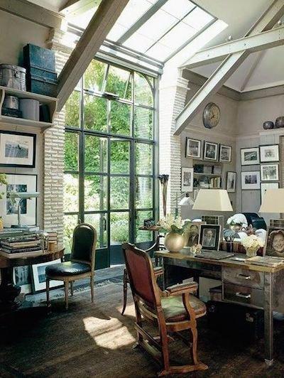 Фотография: Офис в стиле Прованс и Кантри, Лофт, Кабинет, Интерьер комнат – фото на INMYROOM