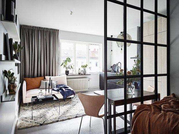 Фотография: Гостиная в стиле Скандинавский, Декор интерьера, Квартира, Студия, до 40 метров – фото на INMYROOM