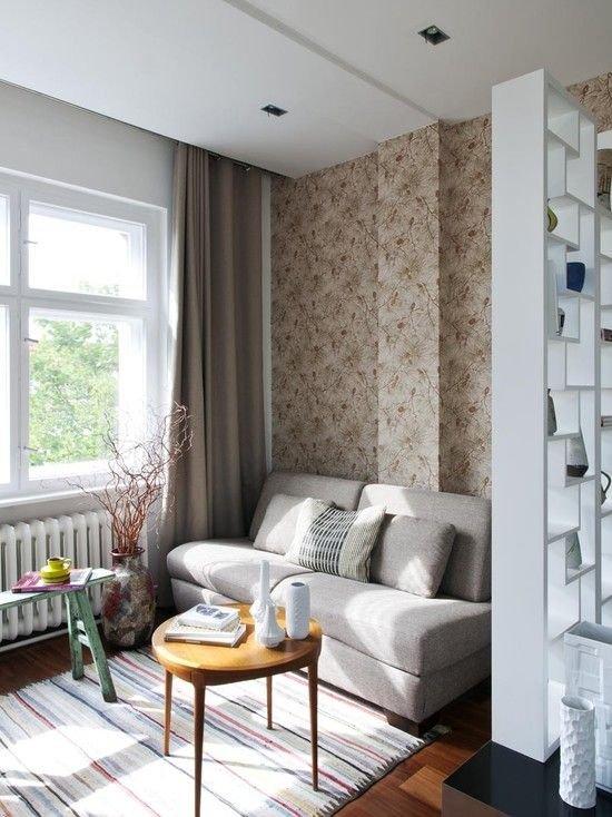 Фотография: Гостиная в стиле Скандинавский, Советы, как совместить спальню с гостиной, как обустроить в одной комнате две зоны, зонирование комнаты – фото на INMYROOM