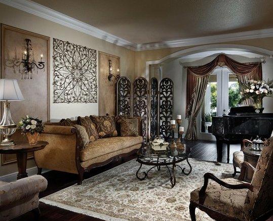 Фотография: Гостиная в стиле Классический, Декор интерьера, Декор дома, Цвет в интерьере, Обои – фото на INMYROOM