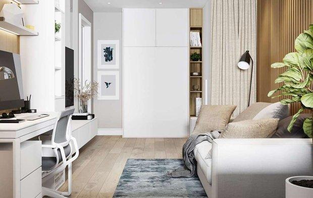 Фотография:  в стиле , Гостиная, Спальня, Гид – фото на INMYROOM