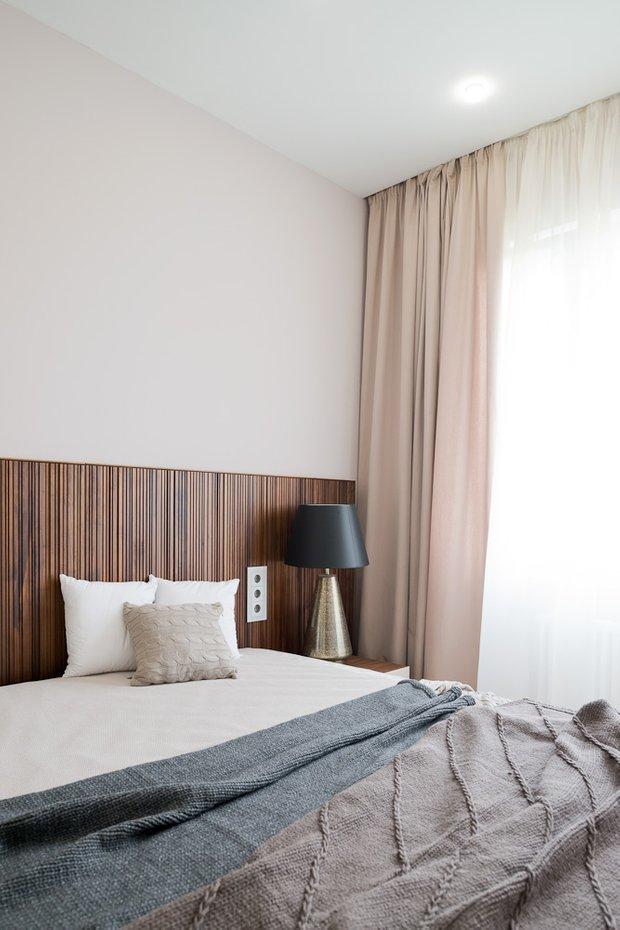 Фотография: Спальня в стиле Минимализм, Эко, Классический, Квартира, Проект недели, Москва, Бежевый – фото на INMYROOM