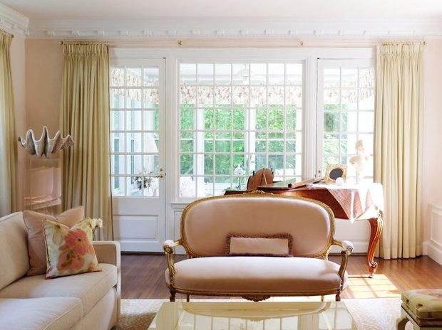 Фотография: Гостиная в стиле Прованс и Кантри, Декор интерьера, Зеленый, Бежевый, Серый, Розовый, Голубой – фото на INMYROOM